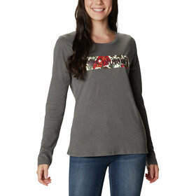 Columbia Blustery Peak LS Tee Women, charcoal heather/botanical gem
